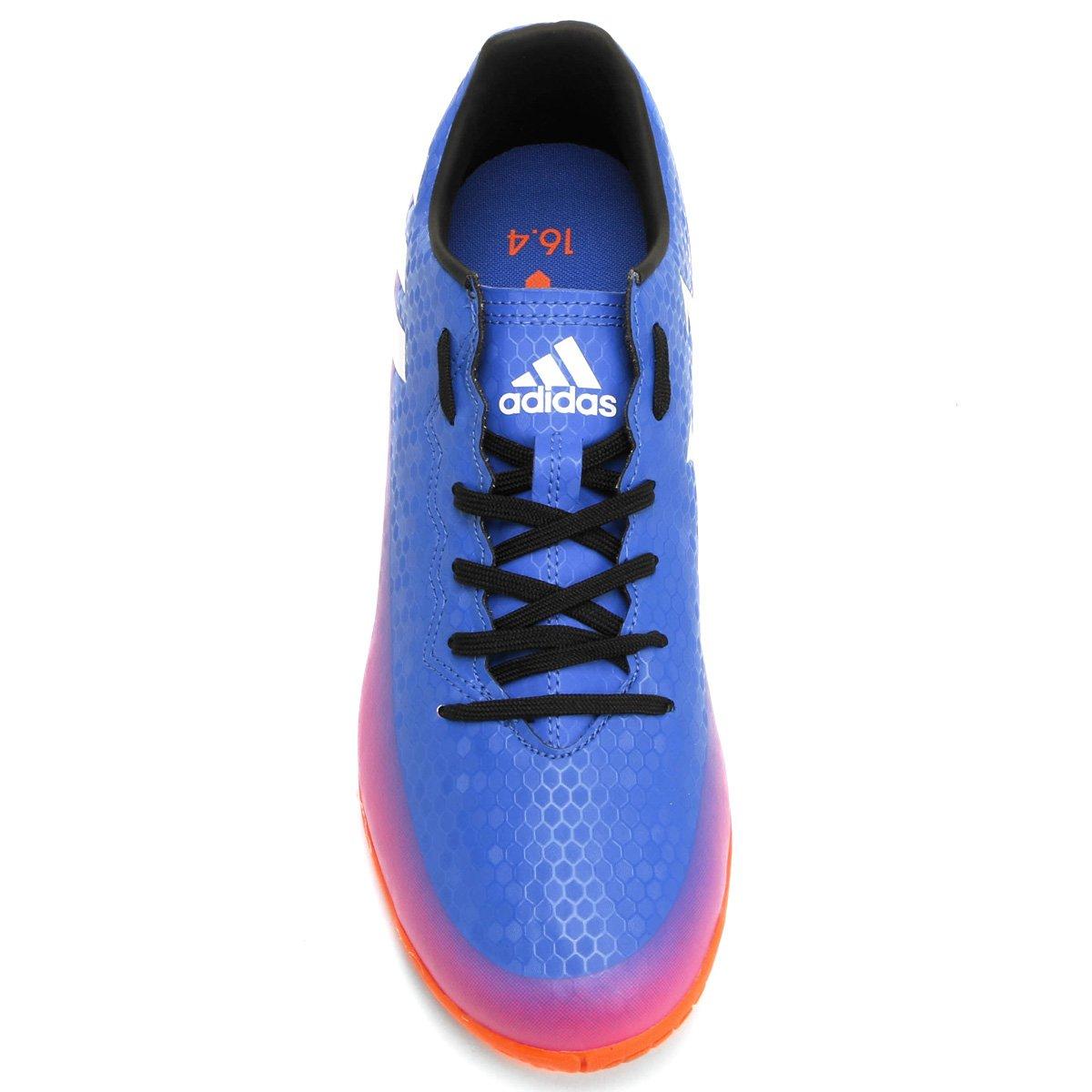 f21a676668 Masculina Azul Pink Futsal Adidas e 4 Messi Chuteira IN 16 fFqw4xYC ...