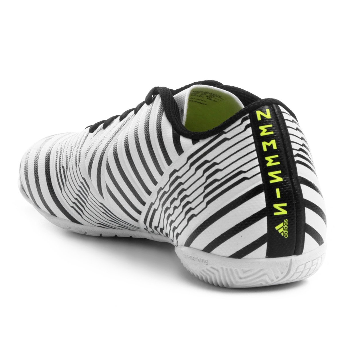 Chuteira Futsal Adidas Nemeziz 17.4 IN - Branco - Compre Agora ... d9a527a4d5520