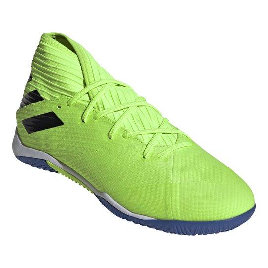 Chuteira Futsal Adidas Nemeziz 19 3 IN - Verde+Preto
