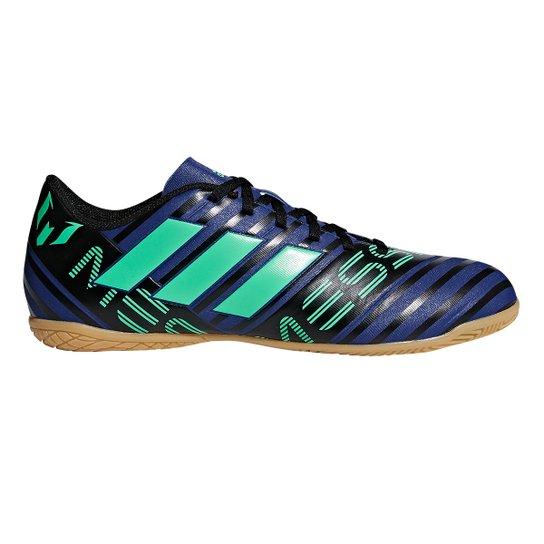 Chuteira Futsal Adidas Nemeziz Messi 17.4 IN - Marinho+Verde