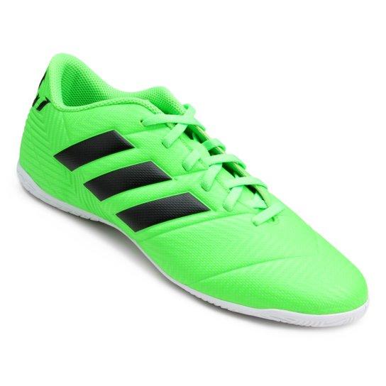 Chuteira Futsal Adidas Nemeziz Messi Tan 18 4 IN - Verde+Preto