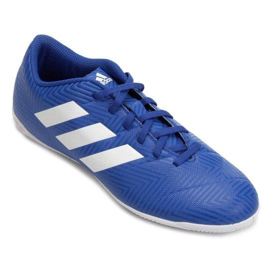 Chuteira Futsal Adidas Nemeziz Tango 18 4 IN - Azul+Branco