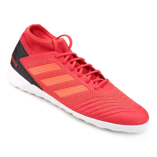 Chuteira Futsal Adidas Predator 19 3 IN - Vermelho+Preto