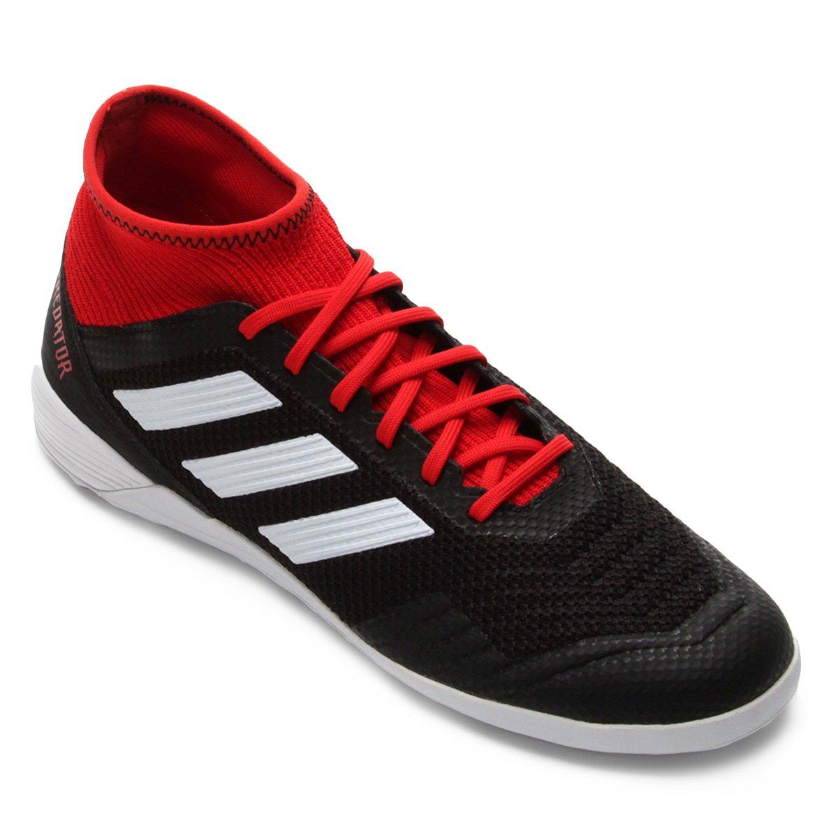 a7205c85a1e78 Chuteira Futsal Adidas Predator Tan 18 3 IN - Preto e Vermelho - Compre  Agora