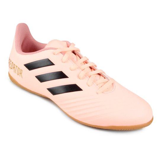 Chuteira Futsal Adidas Predator Tan 18 4 IN - Rosa+Preto