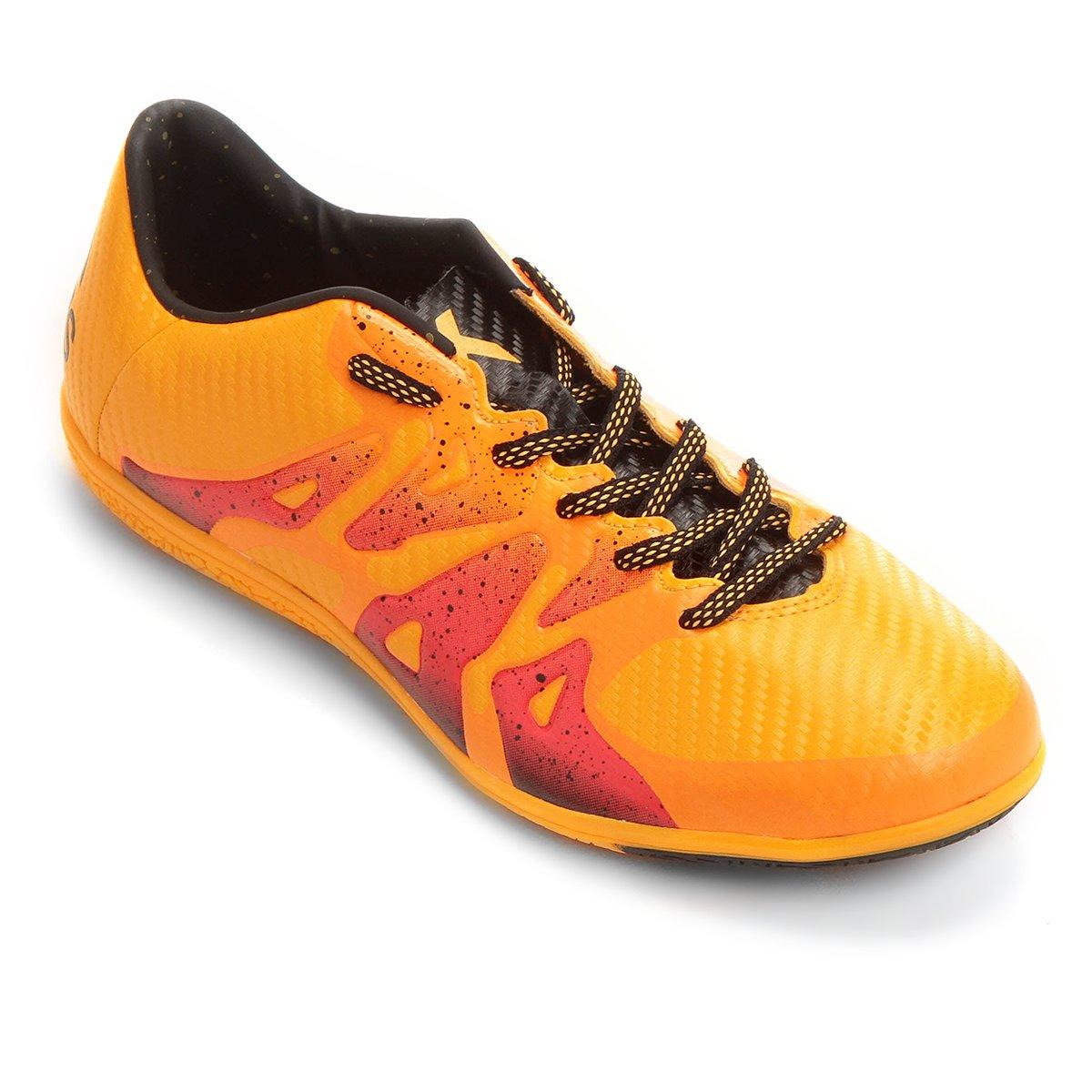 a54dbe2097a6d Chuteira Futsal Adidas X 15 3 IN Masculina - Amarelo e Rosa - Compre Agora