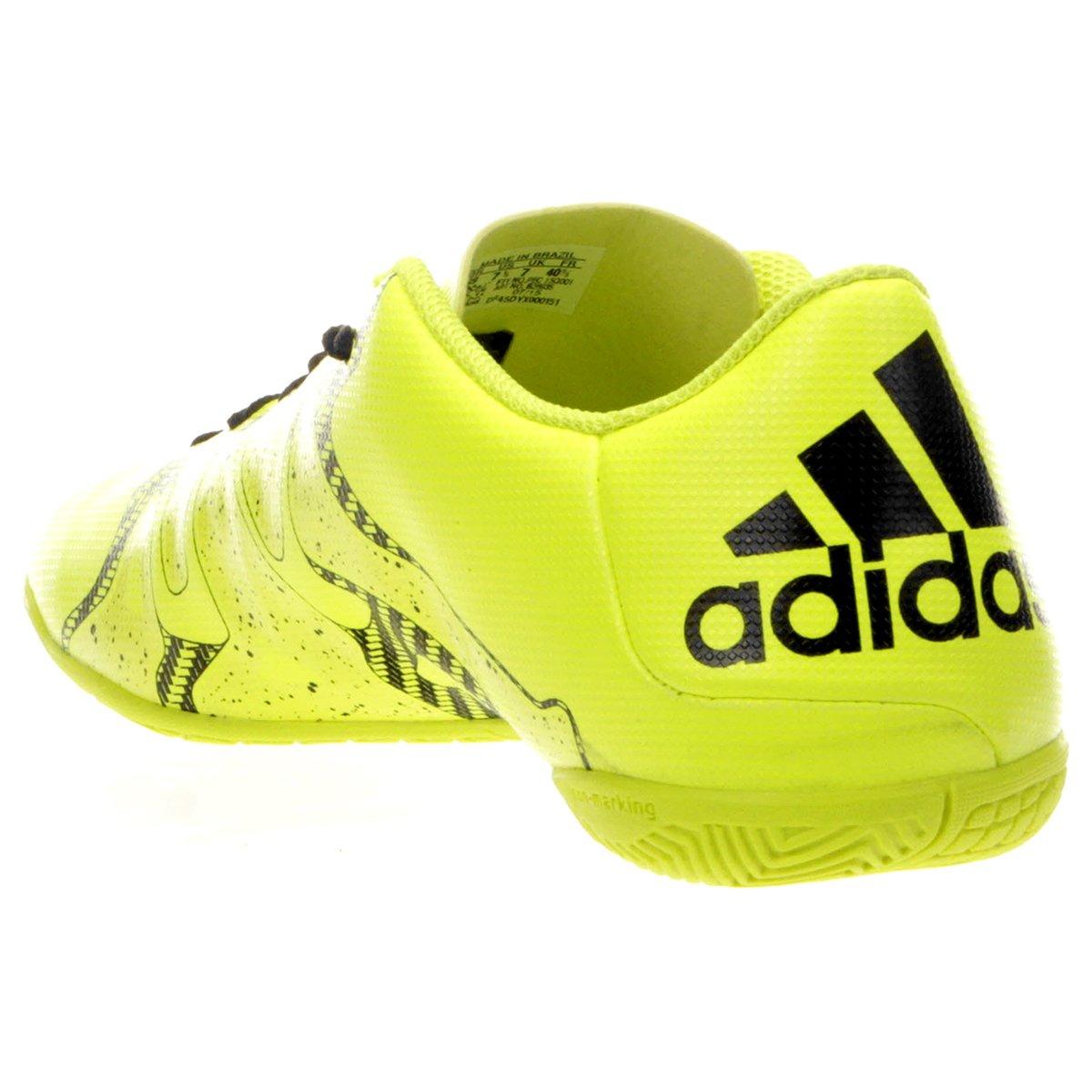 ee1b049095 Chuteira Futsal Adidas X 15 4 IN Masculina - Verde claro - Compre ...
