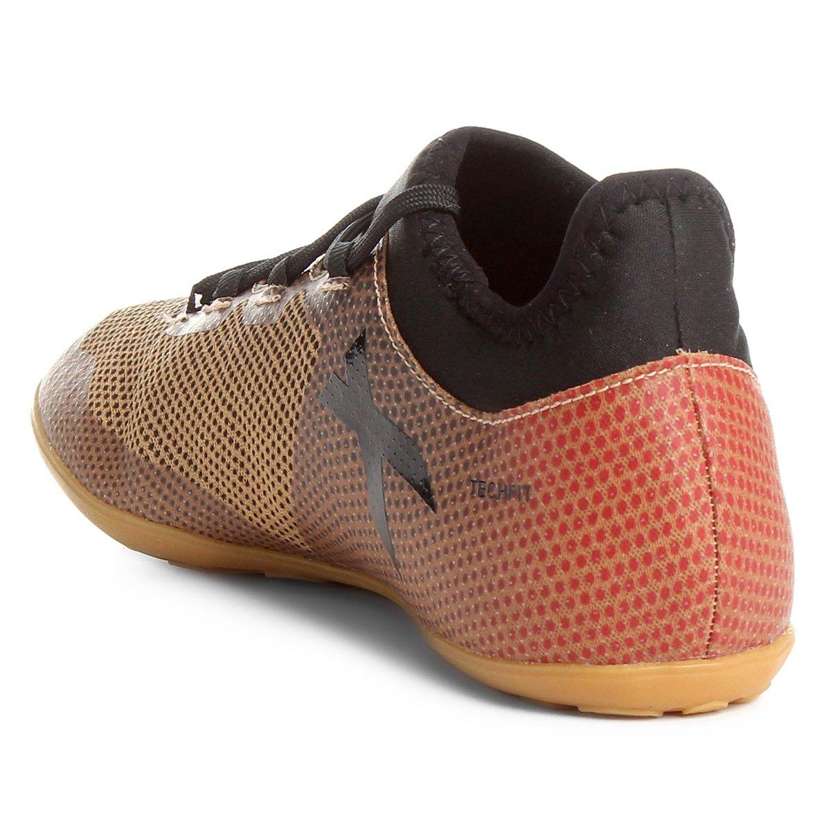 352eb1c139 Chuteira Futsal Adidas X 17 3 IN - Dourado - Compre Agora