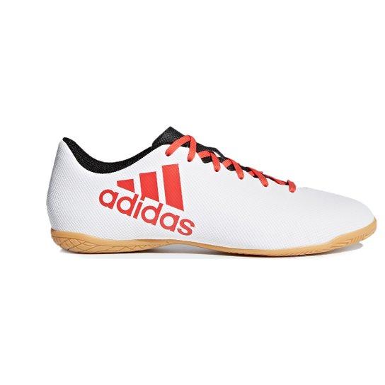 Chuteira Futsal Adidas X 17.4 IN - Branco+Vermelho
