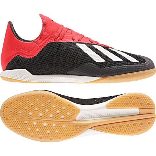 Chuteira Futsal Adidas X 18 3 IN - Preto+Branco
