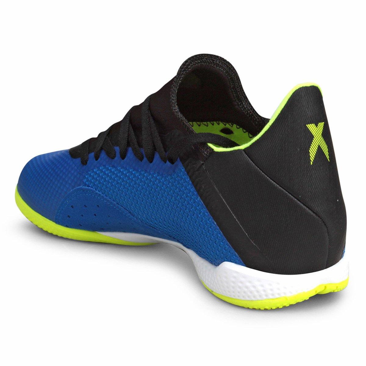 Chuteira Futsal Adidas X Tango 18 3 IN - Azul e amarelo - Compre ... c156659024db5