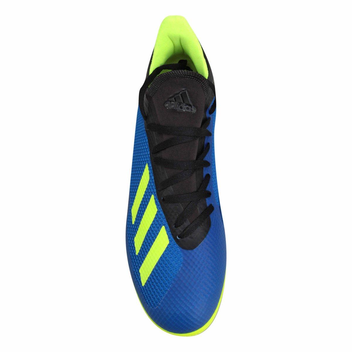 71a7346655 Chuteira Futsal Adidas X Tango 18 3 IN - Azul e amarelo - Compre ...