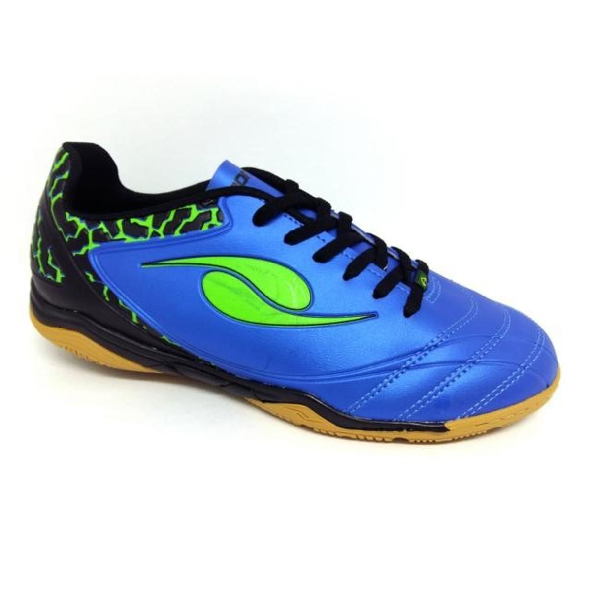 Chuteira Futsal DalPonte Eletric Indoor Masculina - Azul e Preto ... 39c4afaae9849