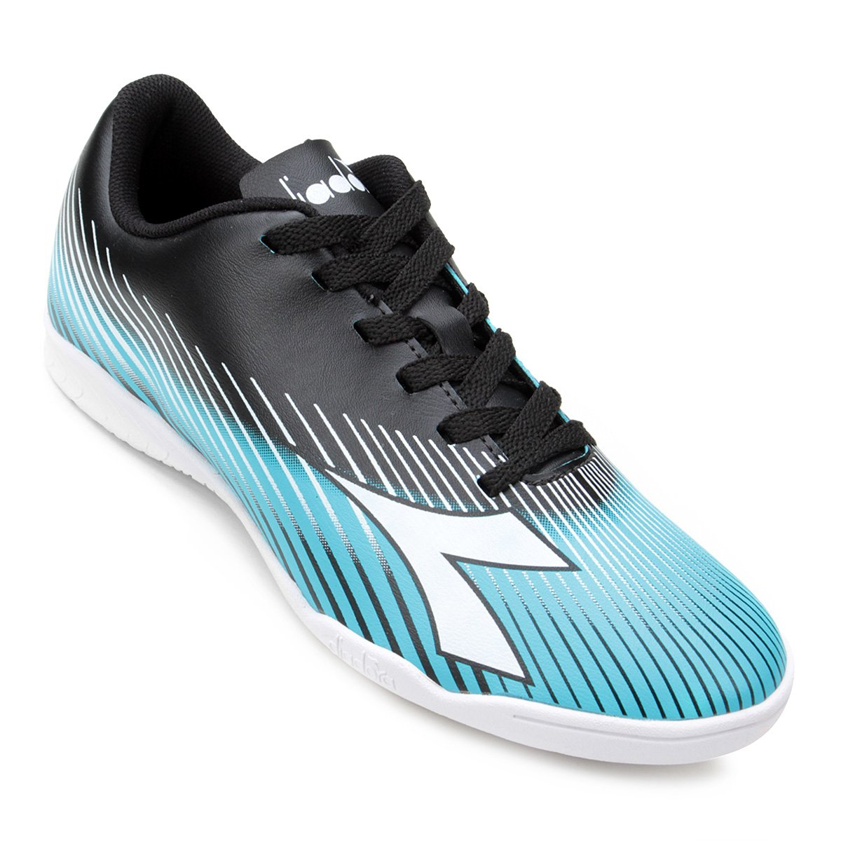 482053fb4c Chuteira Futsal Diadora Rules - Preto e Azul - Compre Agora
