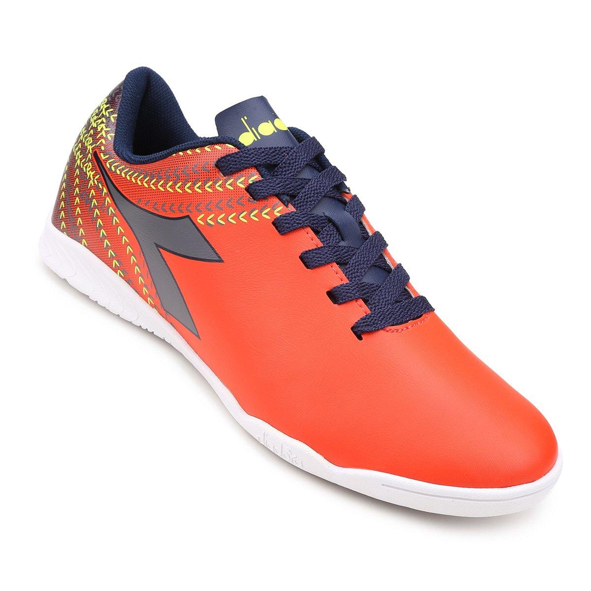 daba7d3642276 Chuteira Futsal Diadora Track - Laranja e Azul - Compre Agora