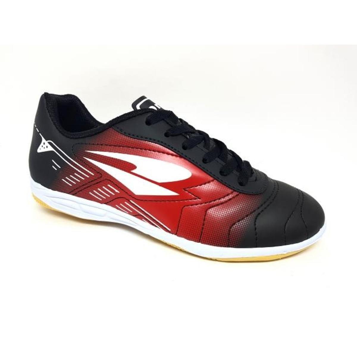 0394b7a37 Chuteira Futsal Dray Foorcy V - Preto e Vermelho