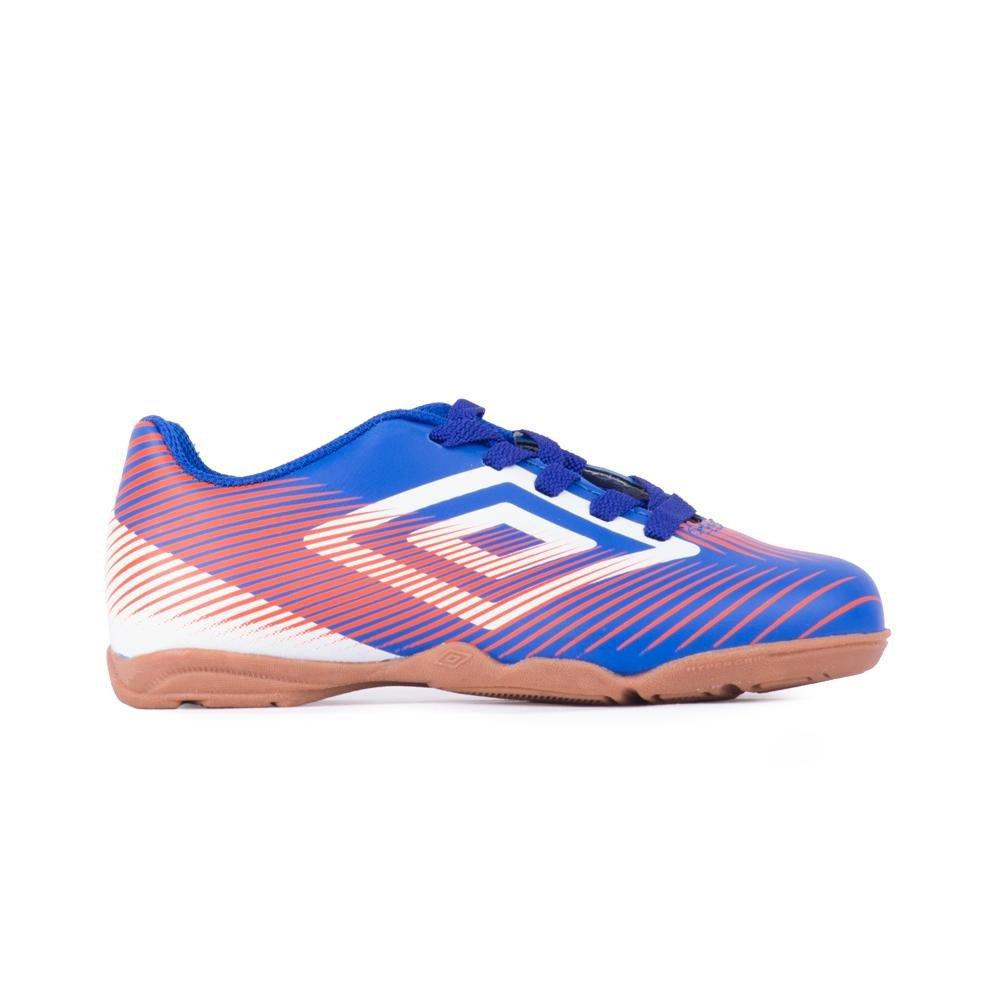 Chuteira Futsal Indoor Speed Ii Fluor - Umbro - Azul e Branco ... 811040dbf2adb
