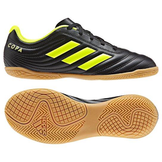 Chuteira Futsal Infantil Adidas Copa 19 4 IN - Preto+Amarelo