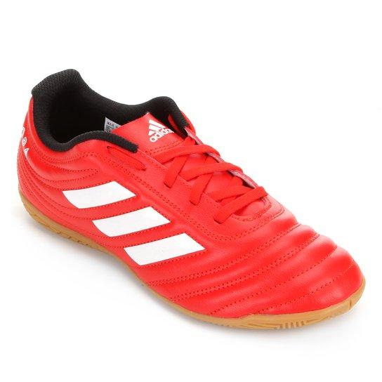 Chuteira Futsal Infantil Adidas Copa 20 4 IN Jr - Vermelho+Branco