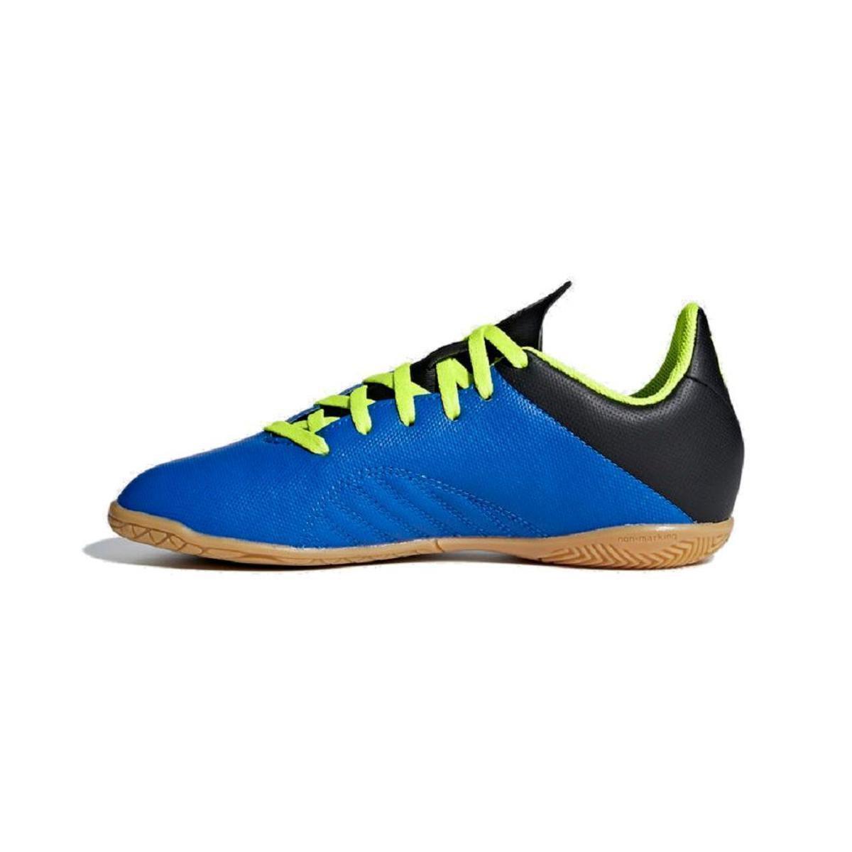 ... factory authentic Chuteira Futsal Infantil Adidas X Tango 18 4 In -  Azul e amarelo . ... 6bbbc7a3805b5
