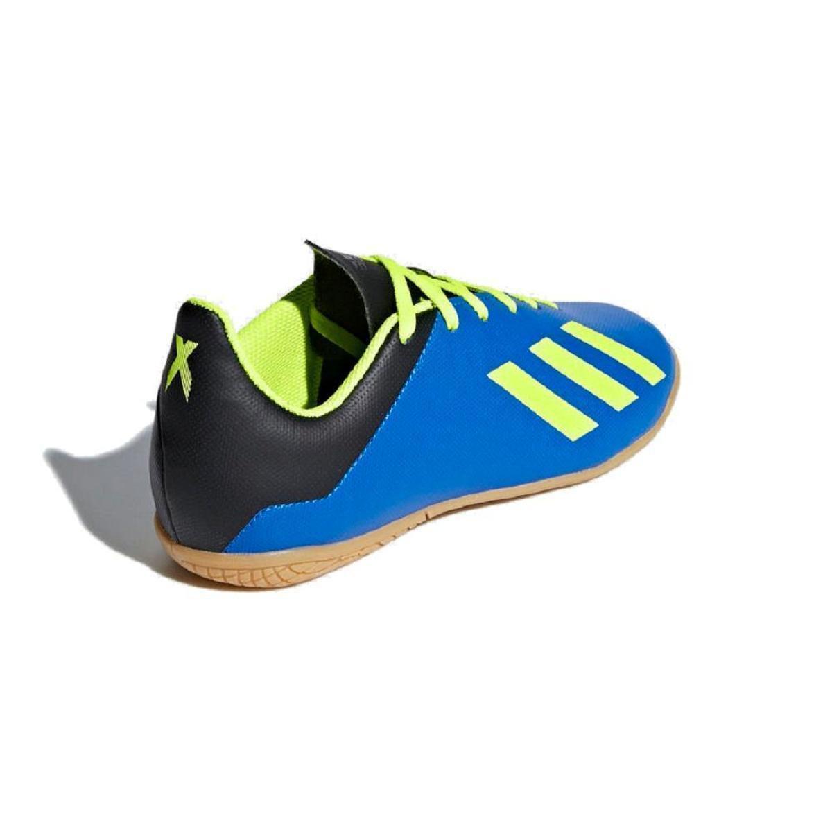 b9d3dd4cba Chuteira Futsal Infantil Adidas X Tango 18 4 In - Azul e amarelo ...