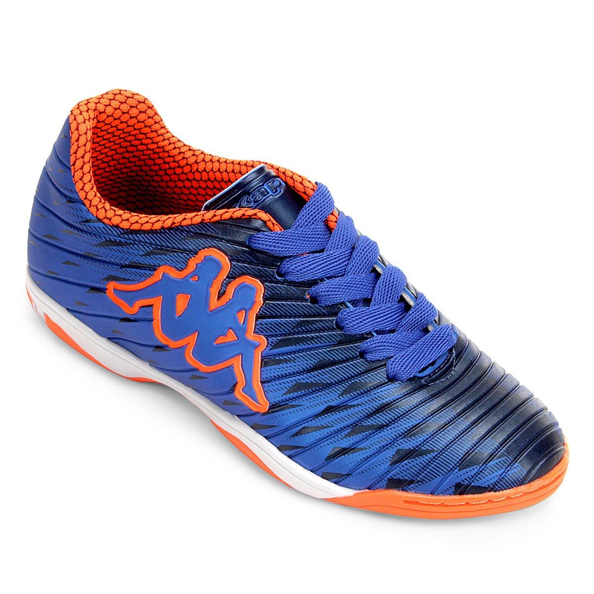 eaf07a6e85 Chuteira Futsal Infantil Kappa Thunder - Azul e Laranja - Compre ...