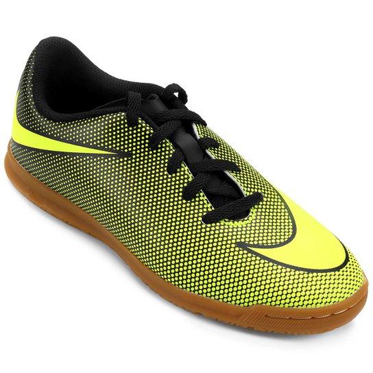 Chuteira Futsal Infantil Nike Bravata 2 IC - Preto+Verde Limão