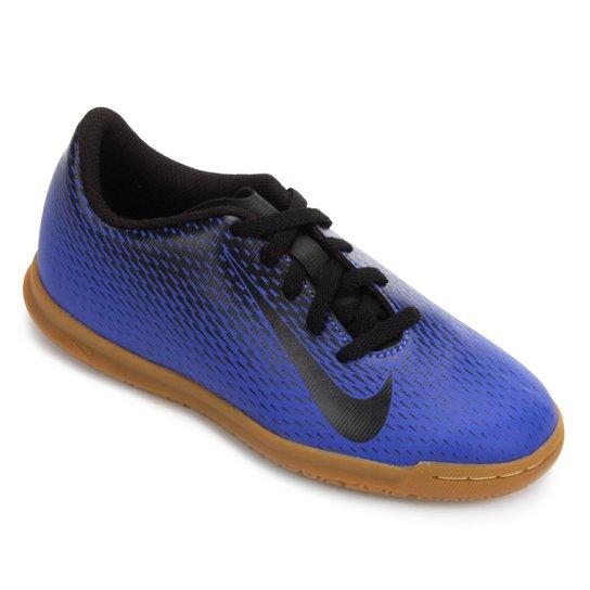 Chuteira Futsal Infantil Nike Bravata 2 IC - Azul+Preto