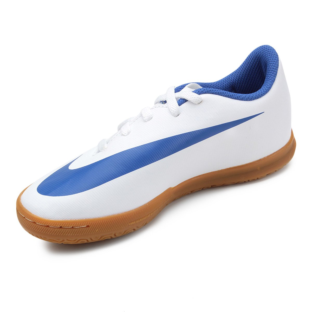 9e9aa1cb97 Chuteira Futsal Infantil Nike Bravata 2 IC - Branco e Azul - Compre ...