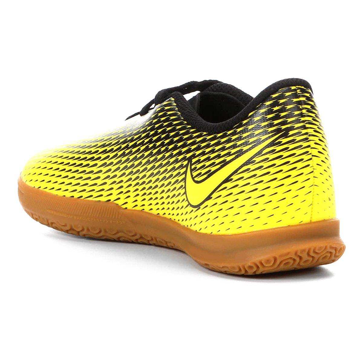 Chuteira Futsal Infantil Nike Bravata II IC - Amarelo e Preto ... 0596fce2a6e87
