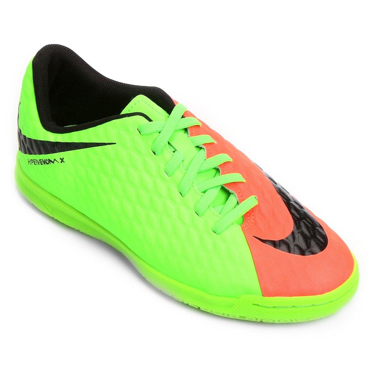 en un día festivo Escarpa declaración  Chuteira Futsal Infantil Nike Hypervenom Phade 3 IC | Netshoes