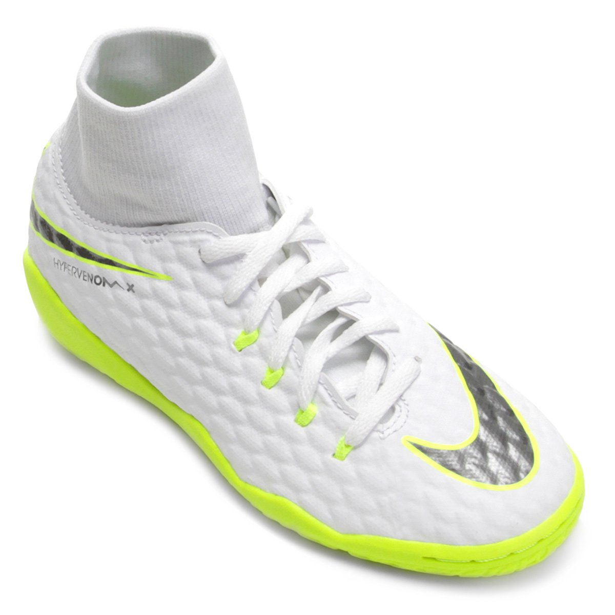 db3ec169da Chuteira Futsal Infantil Nike Hypervenom Phantom 3 Academy DF IC ...