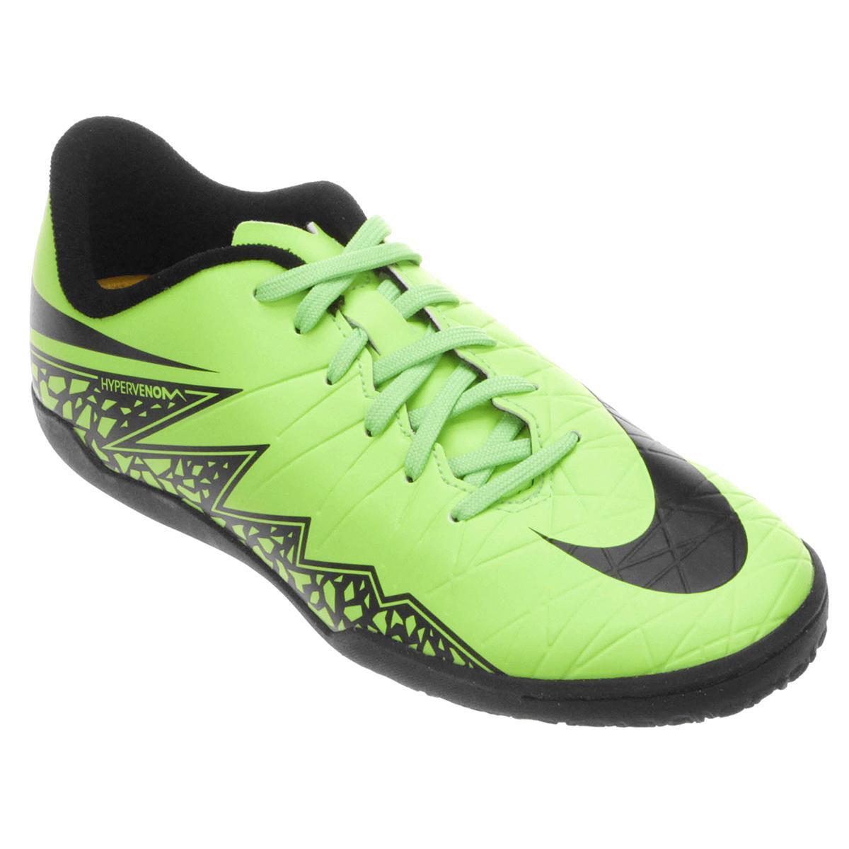 6fe9981dacb59 ... purchase o produto chuteira futsal infantil nike hypervenom phelon 2 ic  verde e preto acabou.