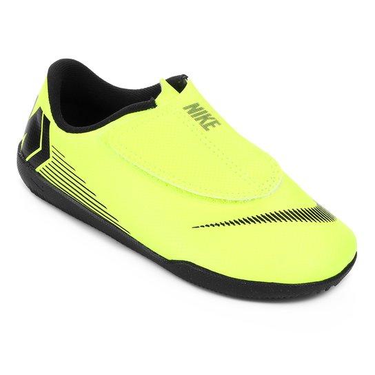Chuteira Futsal Infantil Nike Mercurial Vapor 12 Club PS IC - Amarelo+Preto