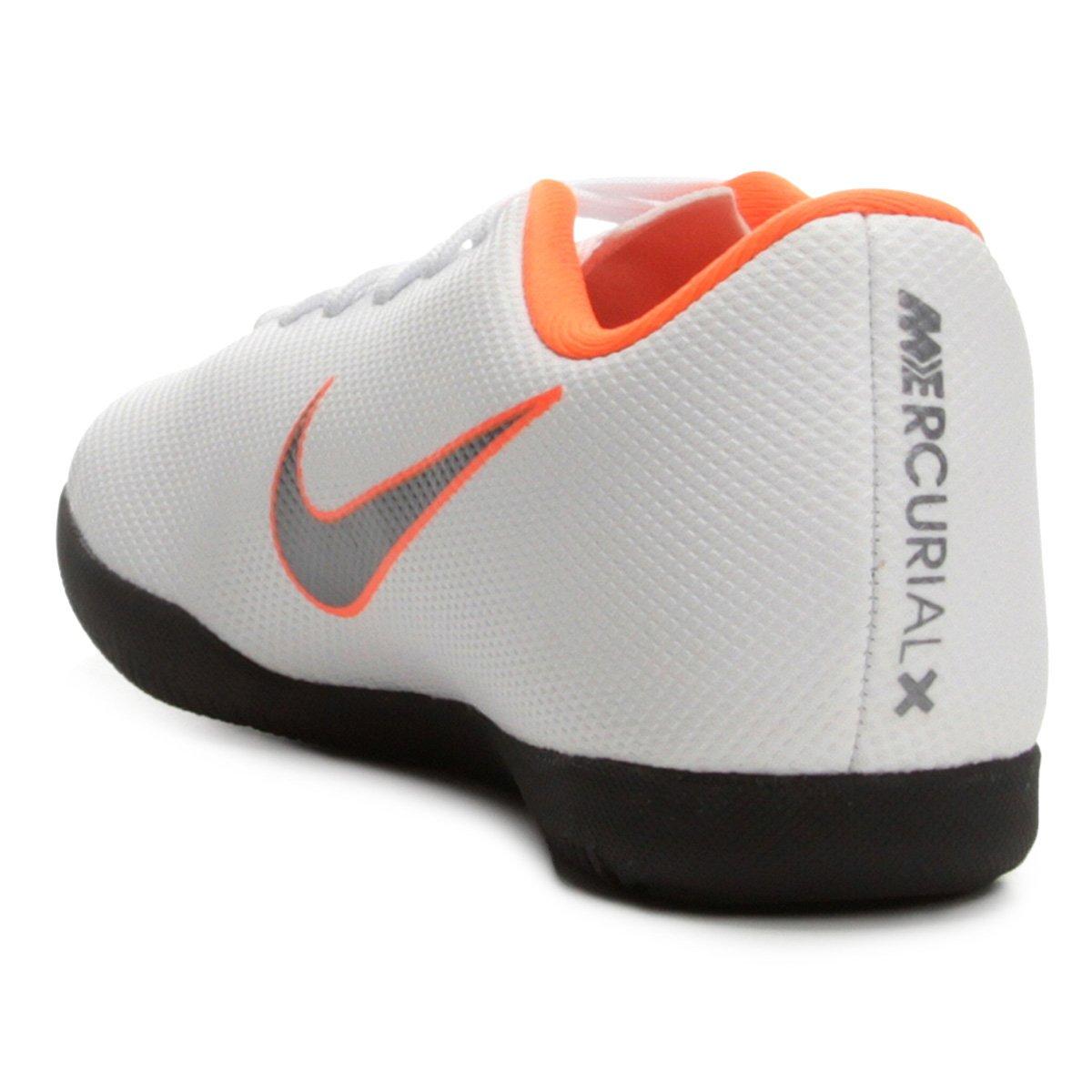 8af00a2412 Chuteira Futsal Infantil Nike Mercurial Vapor 12 Club - Branco e ...