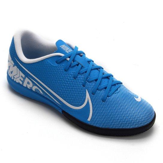 Chuteira Futsal Infantil Nike Mercurial Vapor 13 Academy IC - Azul+Branco