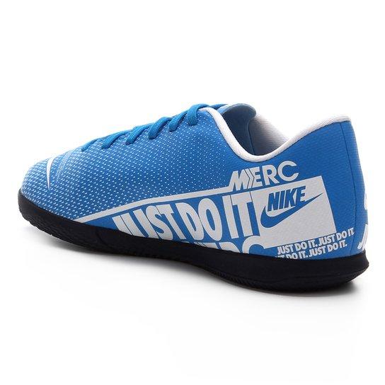 Chuteira Futsal Infantil Nike Mercurial Vapor 13 Club IC - Azul+Branco