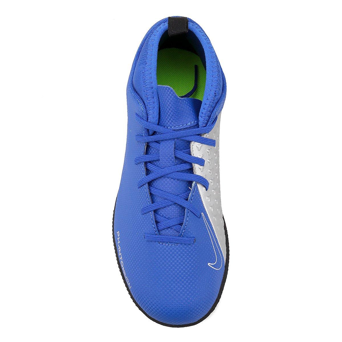 Chuteira Futsal Infantil Nike Phantom Vison Club DF IC - Azul ... 5c1d19e8c29ea