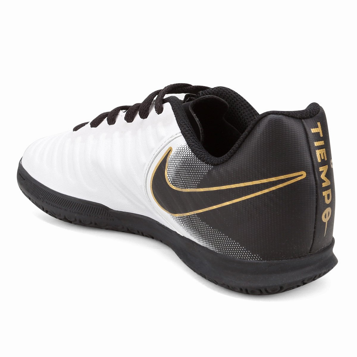 d1f1a916a0 Chuteira Futsal Infantil Nike Tiempo Legend 7 Club IC - Branco e ...