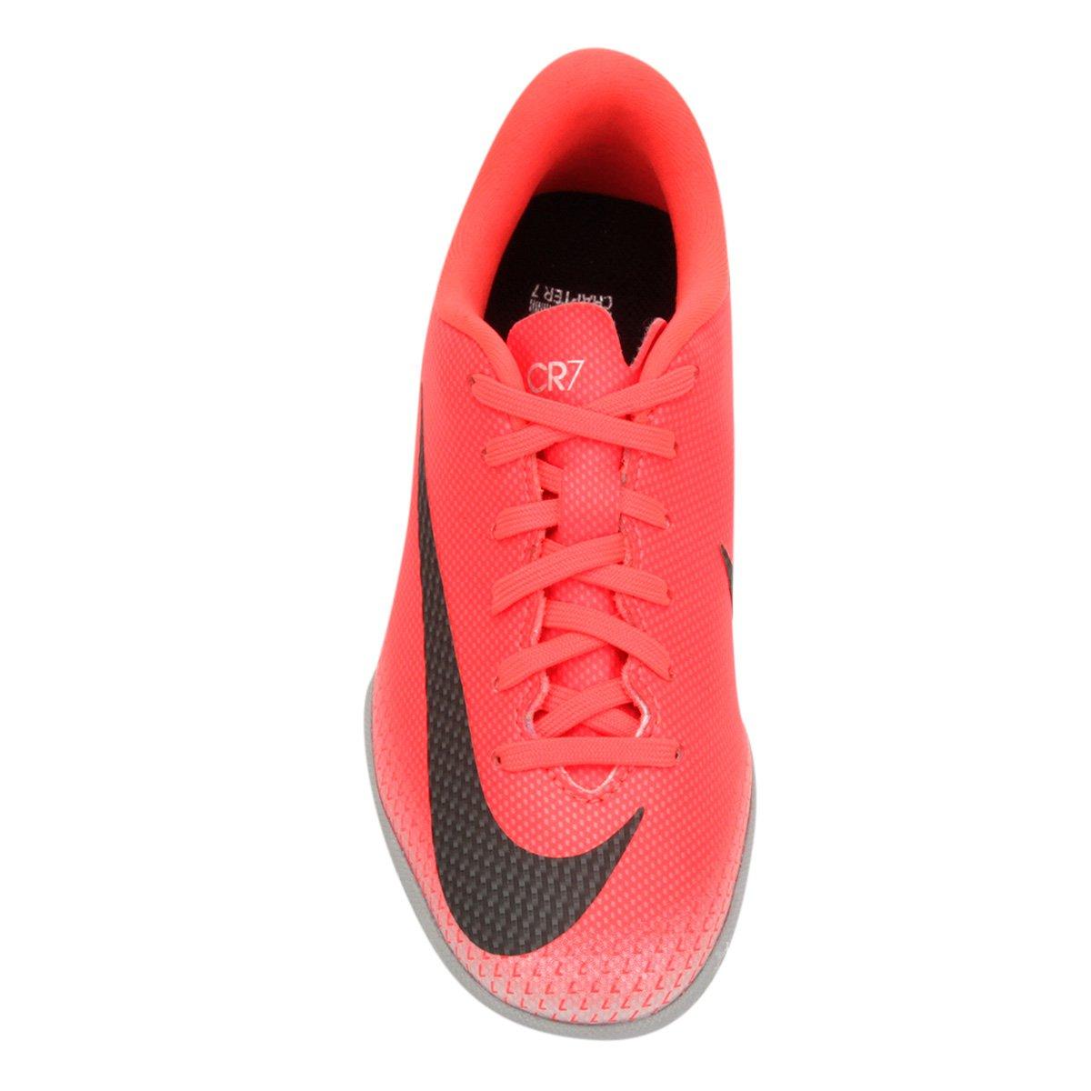 Chuteira Futsal Infantil Nike Vapor 12 Academy GS CR7 IC - Vermelho ... b4c51e045b71b