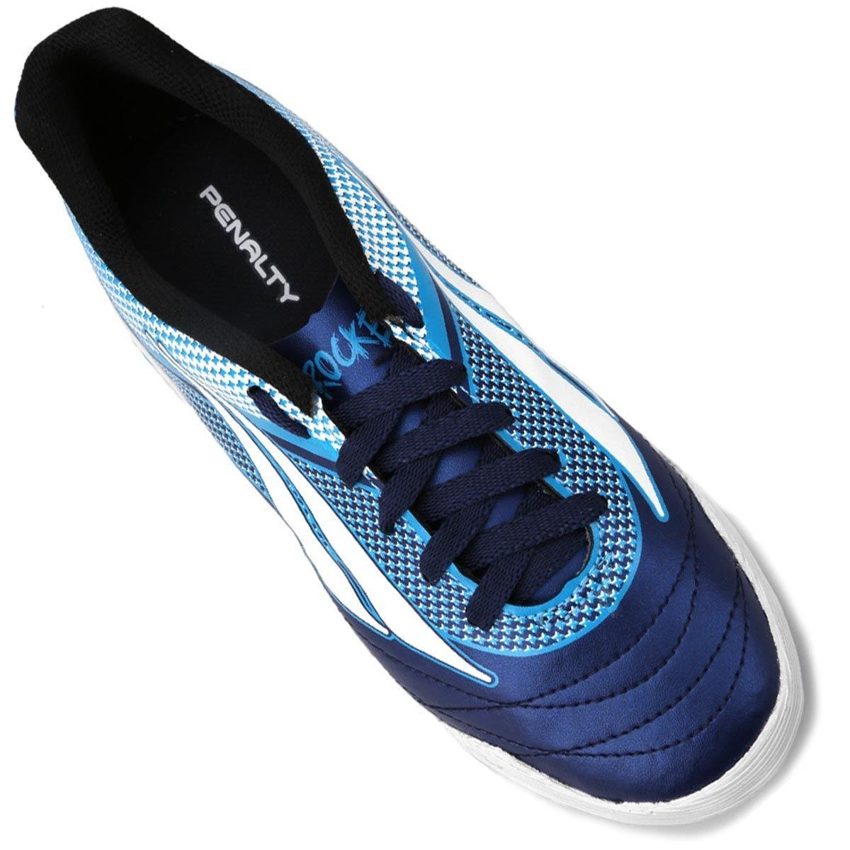 Chuteira Futsal Infantil Penalty ATF K Rocket 7 - Marinho e Azul ... 9c14733826a87