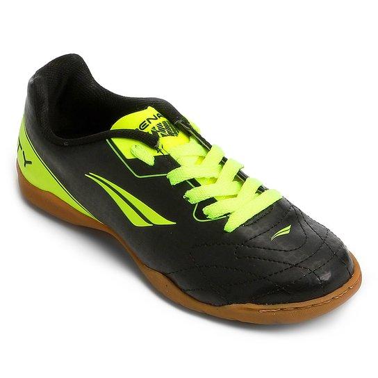 Chuteira Futsal Infantil Penalty Soccer Matis VIII - Preto+Amarelo