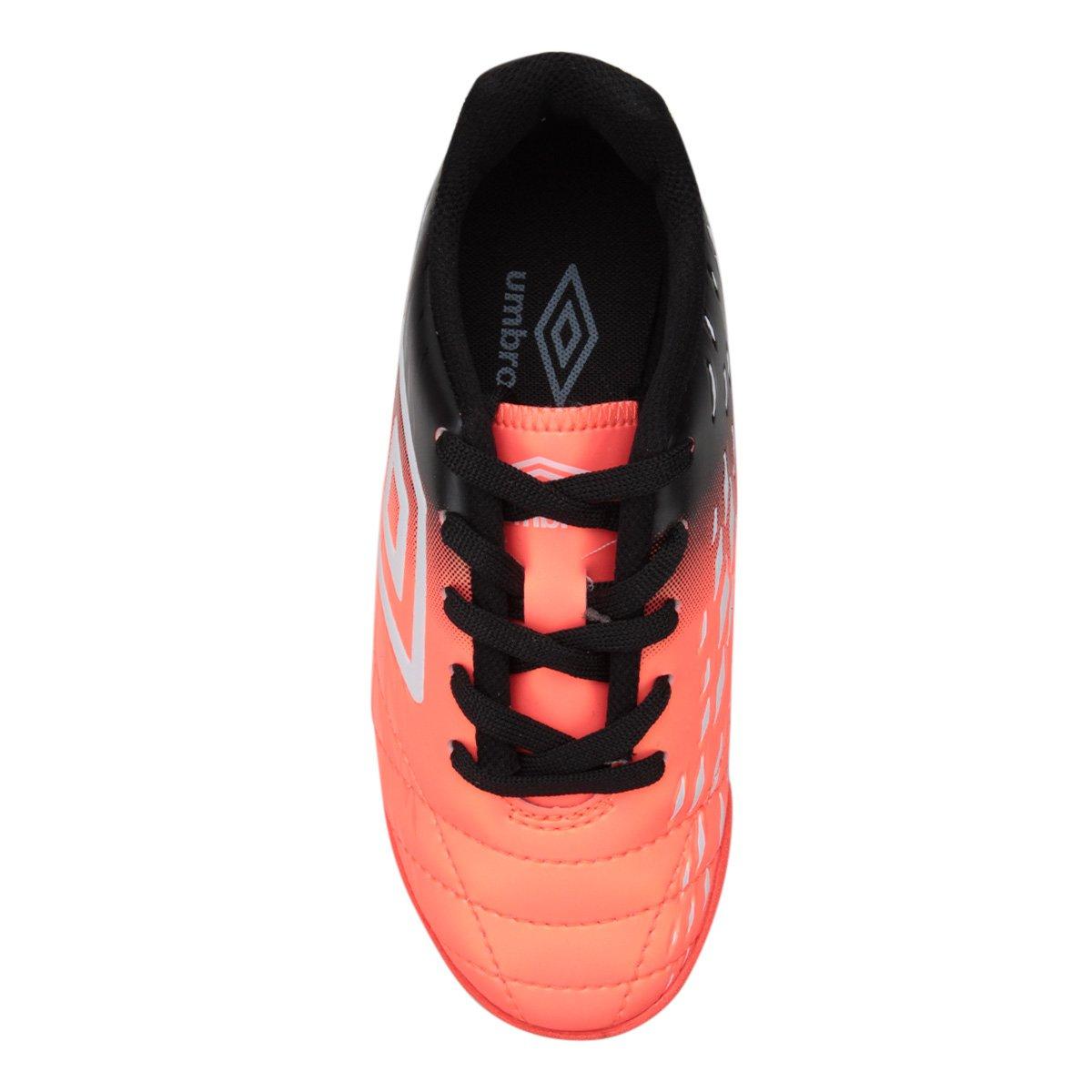 c339ed742f Chuteira Futsal Infantil Umbro Fifty II - Prata e Salmão - Compre ...