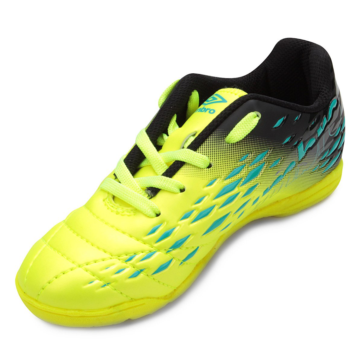 ea314a7099 Chuteira Futsal Infantil Umbro Fifty II - Verde e Azul - Compre ...