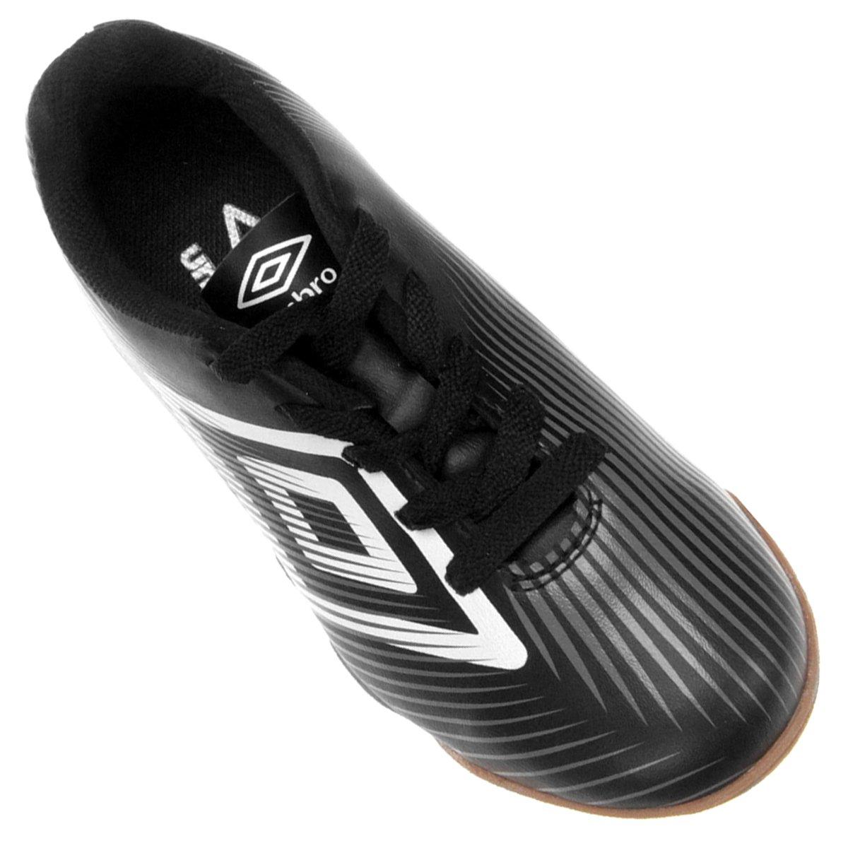 Chuteira Futsal Infantil Umbro Speed II - Preto e Branco - Compre ... f9b0946366adb