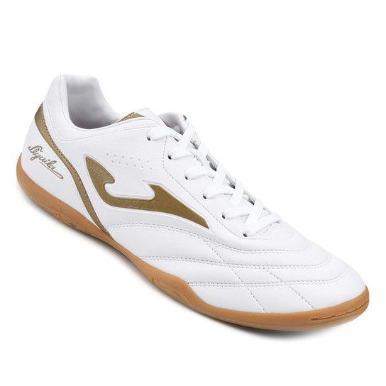 Chuteira Futsal Joma Aguila - Branco+dourado