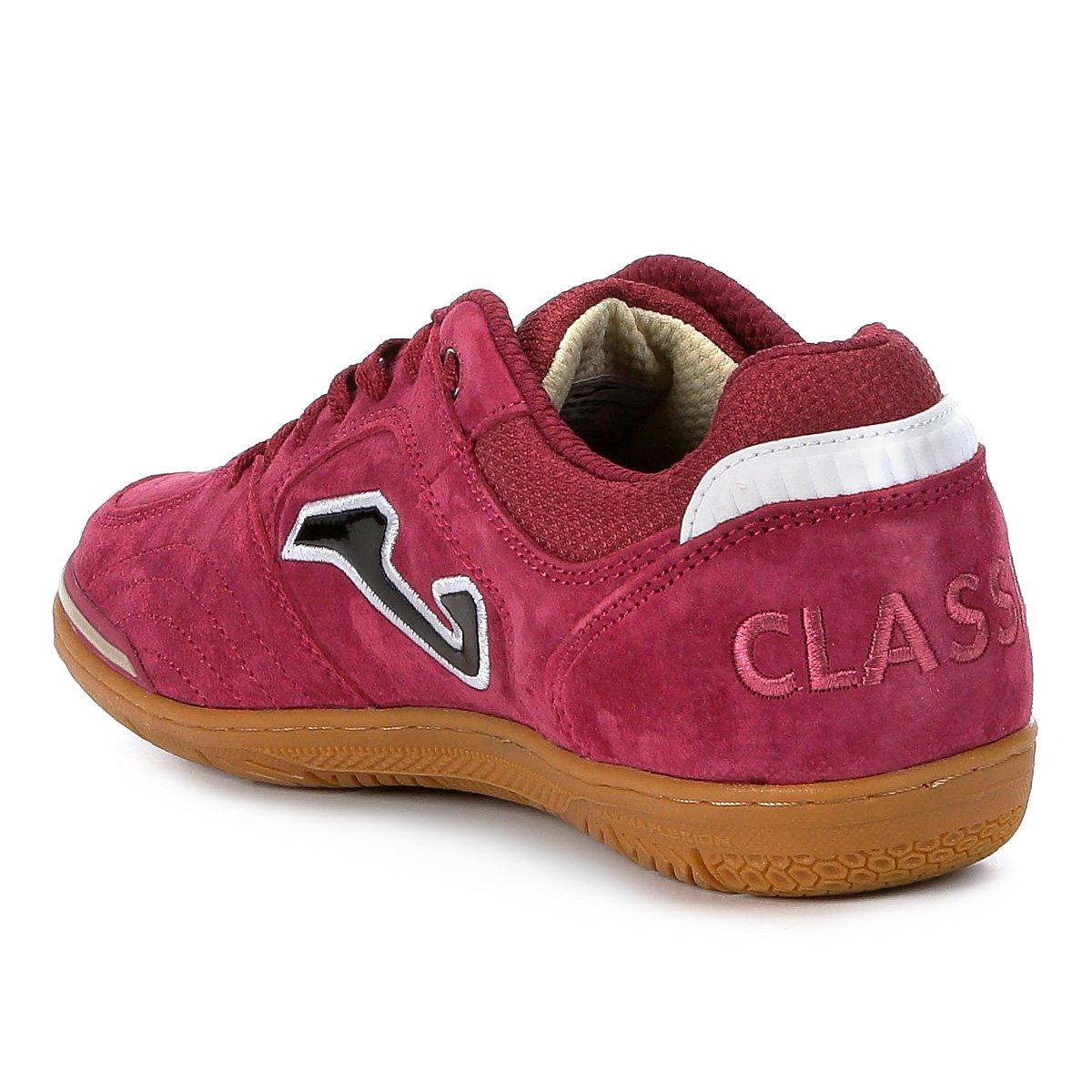 Chuteira Futsal Joma Classic Nobuck IN - Vermelho - Compre Agora ... 100fbdac1ff36