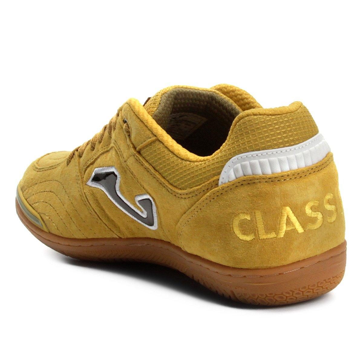 Chuteira Futsal Joma Classic Nobuck IN - Amarelo - Compre Agora ... 1dbd29f518a65