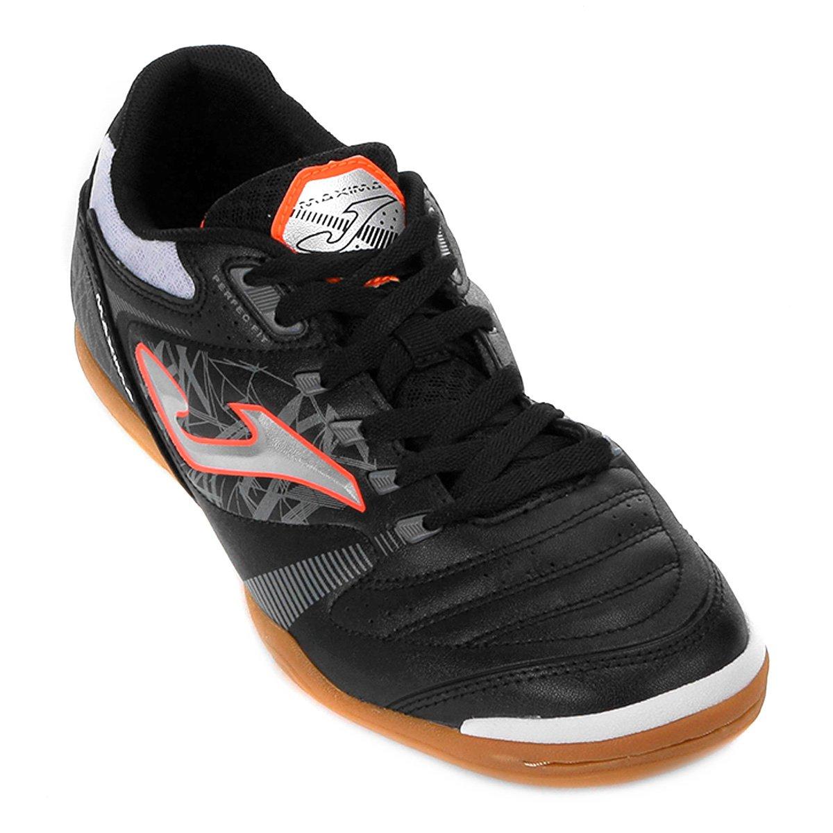 a68ebc1595 Chuteira Futsal Joma Maxima IN - Preto - Compre Agora