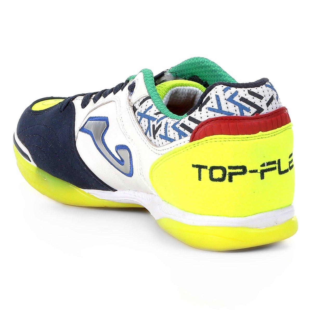 Chuteira Joma IN Futsal Masculina Flex e Branco Verde Top BrSBqwP